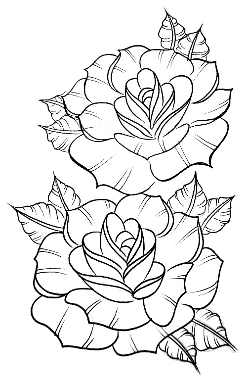 rose art coloring pages - photo#24