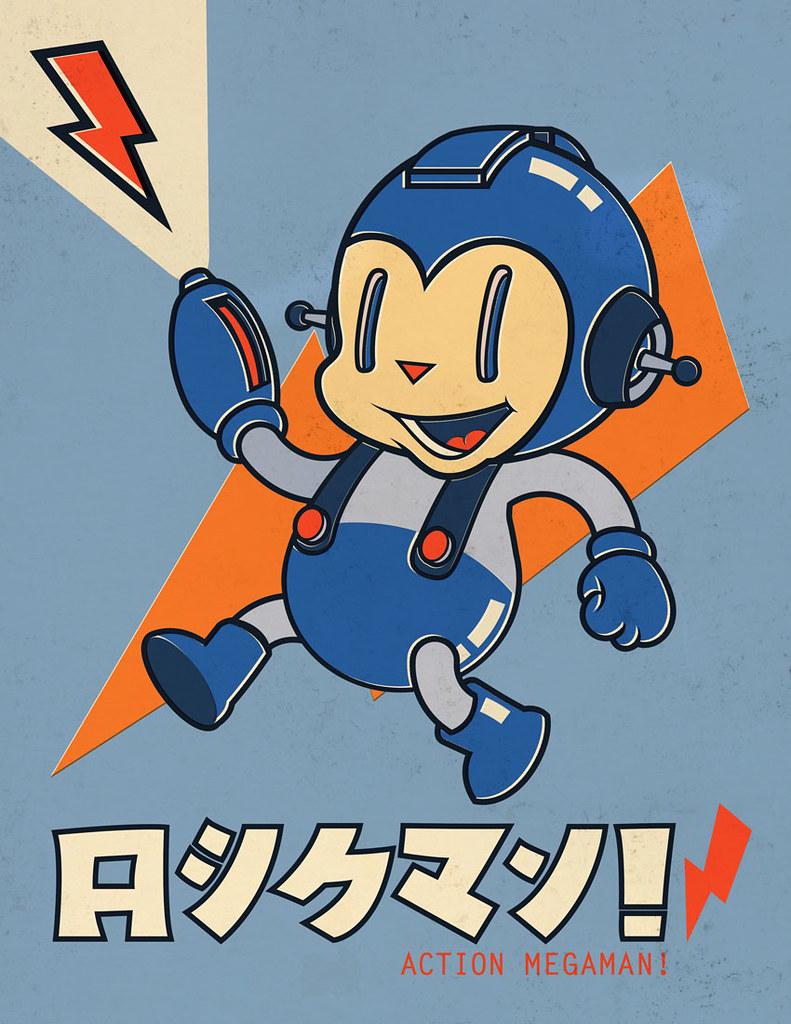 Udon`s Megaman Tribute Book Artwork - Vintage Megaman