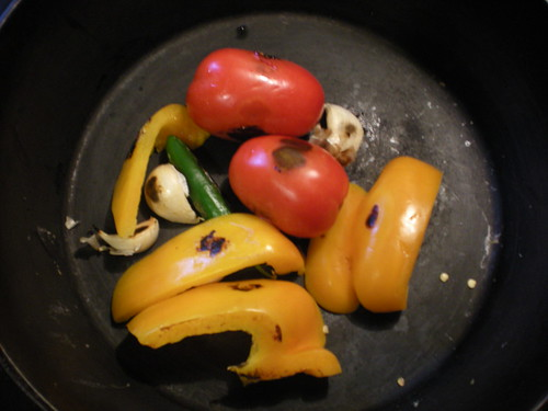 Roasting veggies for salsa | by The Hand That Rocks the Ladle
