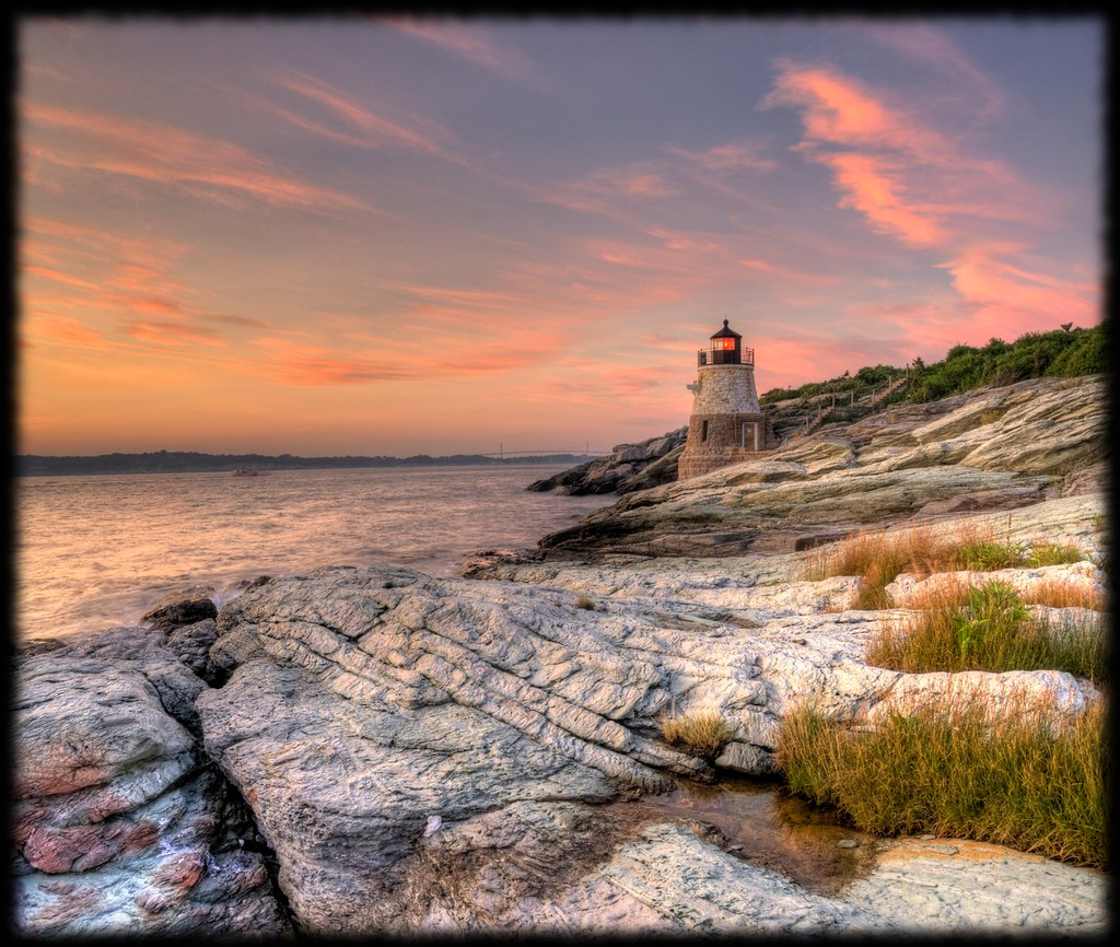 Castle Hill Lighthouse, Newport RI, (vertorama)
