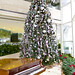 Tall Pink and Silver Christmas Tree Styling
