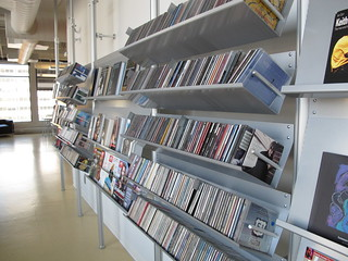 Mediatheque shelves | by wbgo