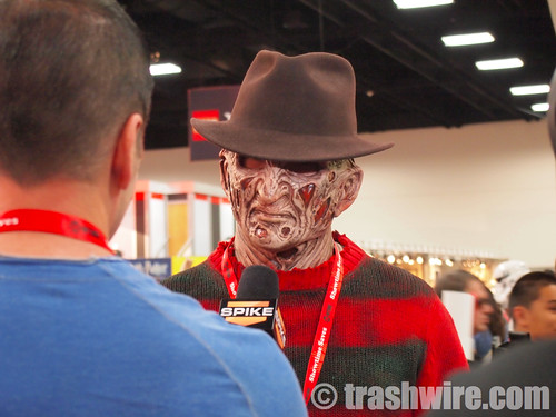 Freddy Krueger does an interview - only at comic con! | by trashwire
