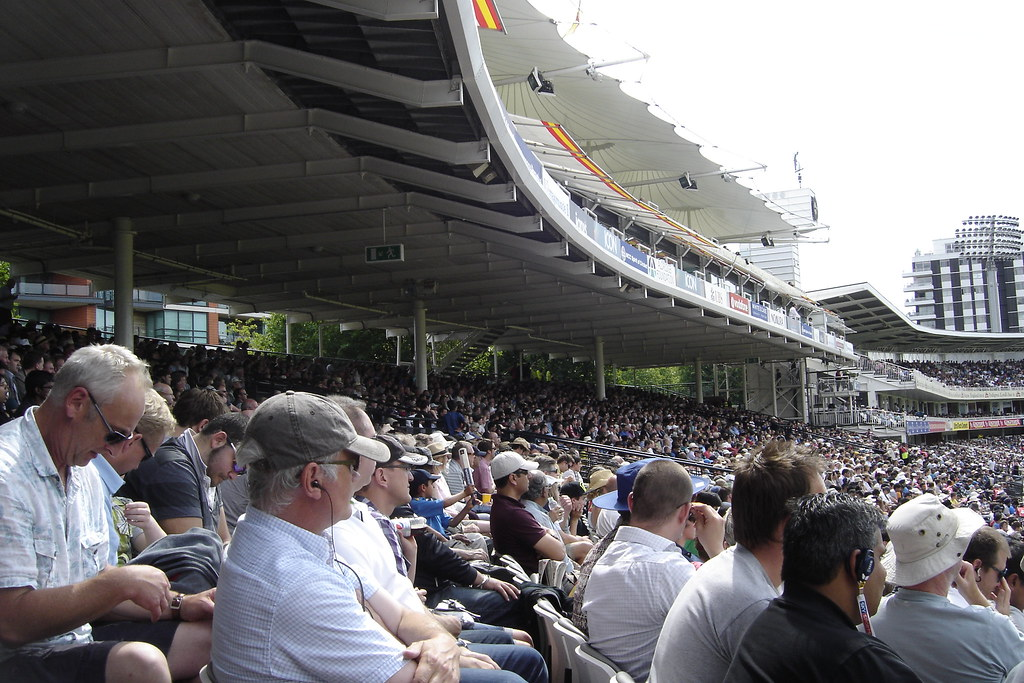 Mound Stand Day 5 Of The 1st Test Between England And