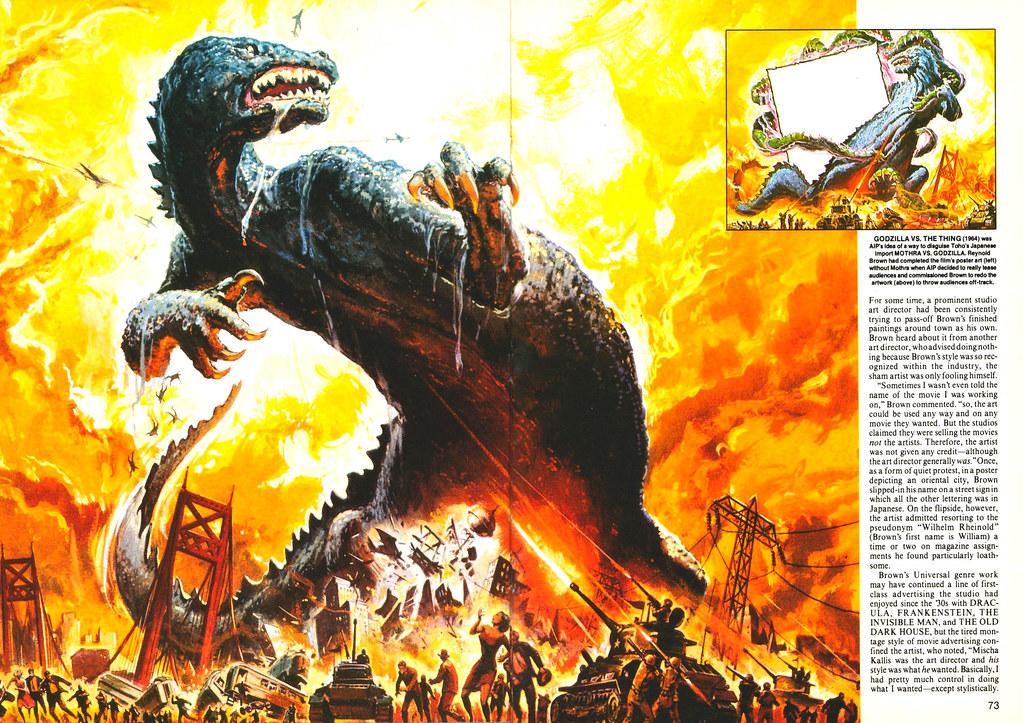 Reynold Brown - Godzilla Vs Thing, Poster Art, 1964 | Flickr