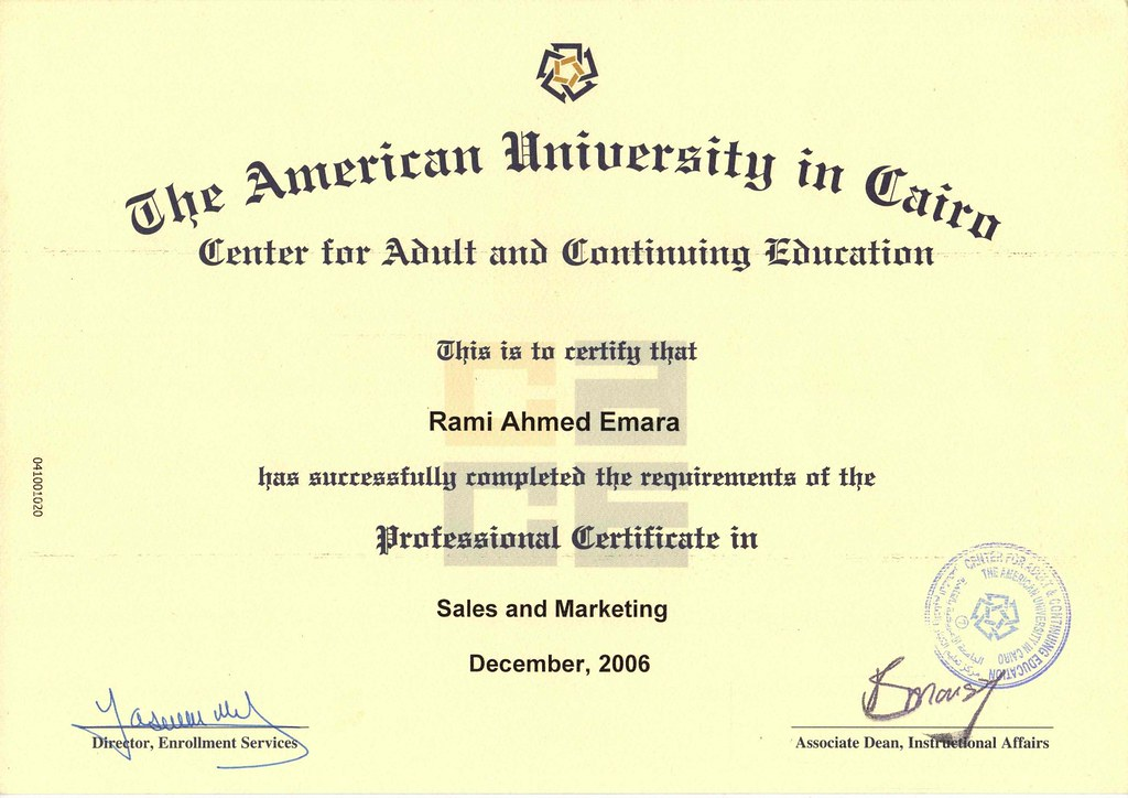 AUC - Professional Certificate in Sales & Marketing | Flickr