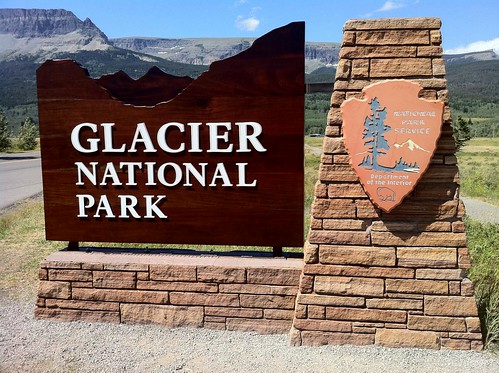 Entrance Sign To Glacier National Park At St Mary Montana