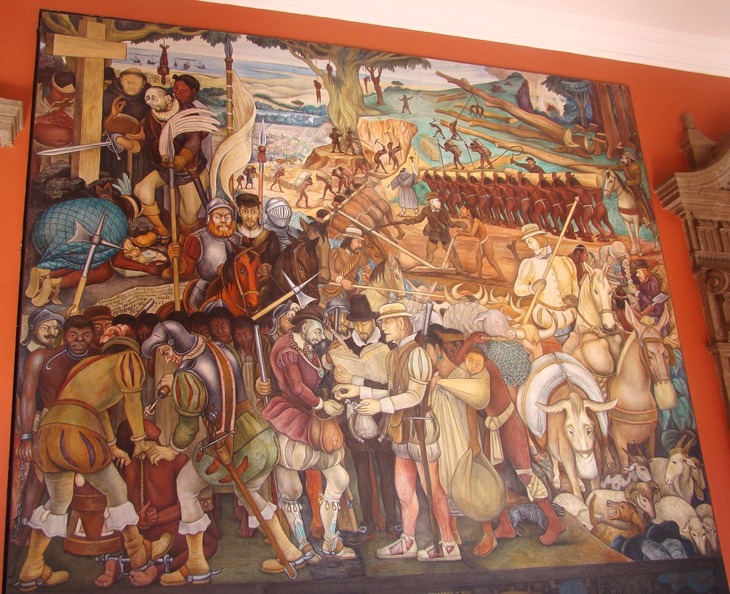 Mexico city diego rivera mural in national palace the for Diego rivera s mural