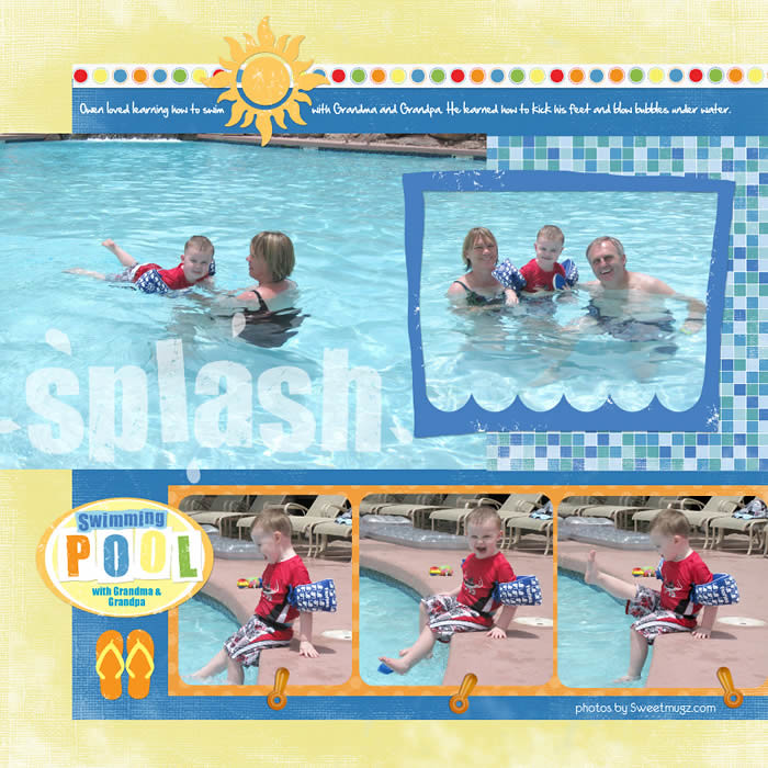 Swimming Pool Digital Scrapbooking Layout The Swimming Poo Flickr