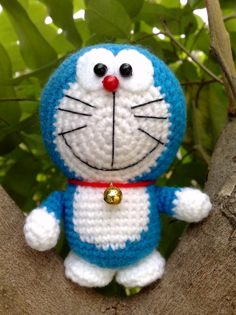 Amigurumi Doraemon Tutorial : Amigurumi Doraemon iknit-fibreart.com/2011/07/08 ...