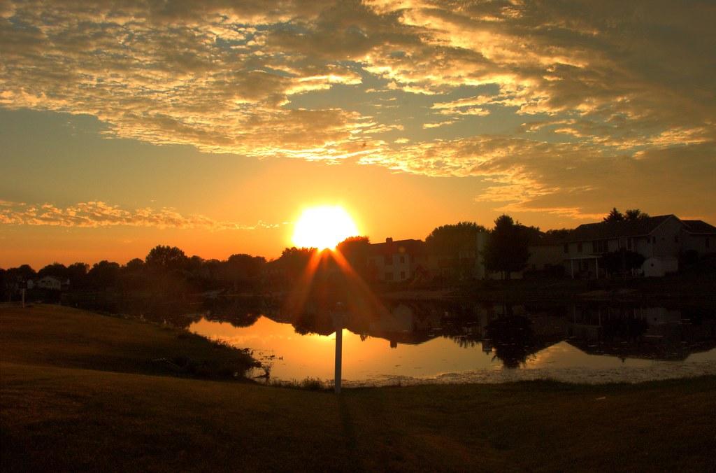 Sunset over Brookmeado...