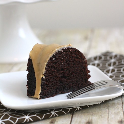 Light Chocolate Bundt with Coffee Glaze | by Tracey's Culinary Adventures