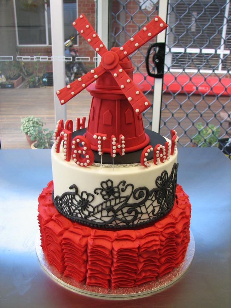 Moulin Rouge Cake Decorations