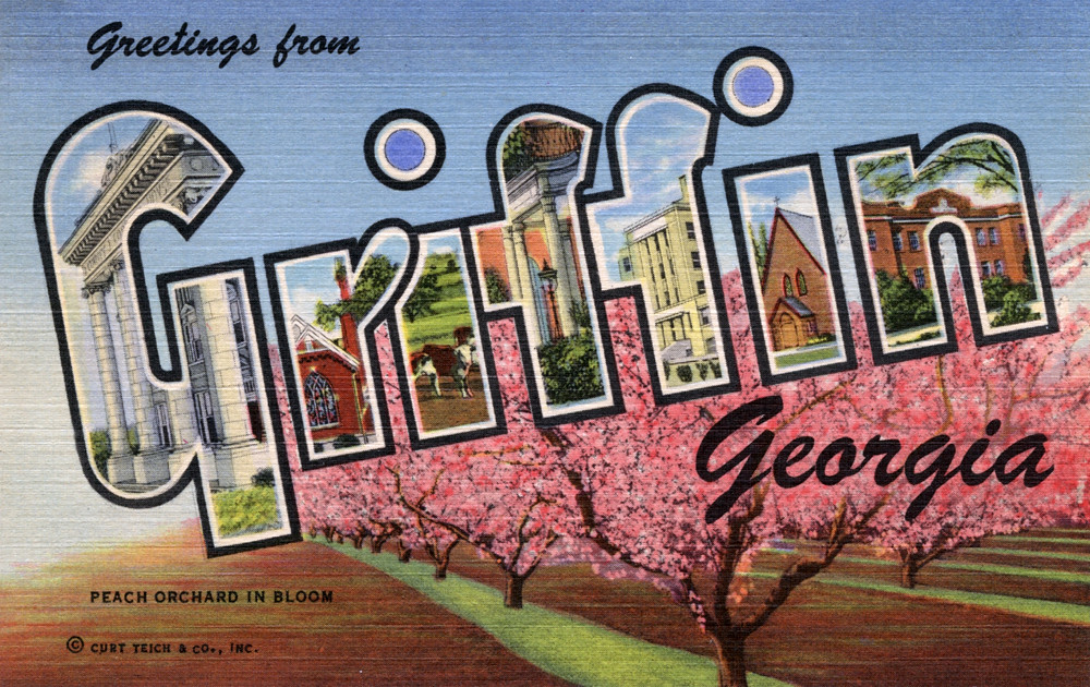 Greetings from griffin georgia large letter postcard flickr greetings from griffin georgia large letter postcard by shook photos m4hsunfo