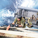 U.S. Navy SEALs train with Special Boat Team (SBT) 12 on the proper techniques of how to board gas and oil platforms