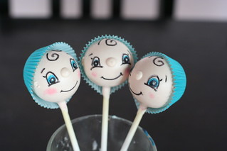Baby in Bonnet Cake Pops | by Sweet Lauren Cakes