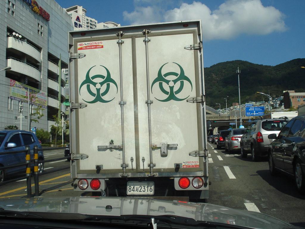 Biohazard Truck Truck For A Medical Waste Transportation