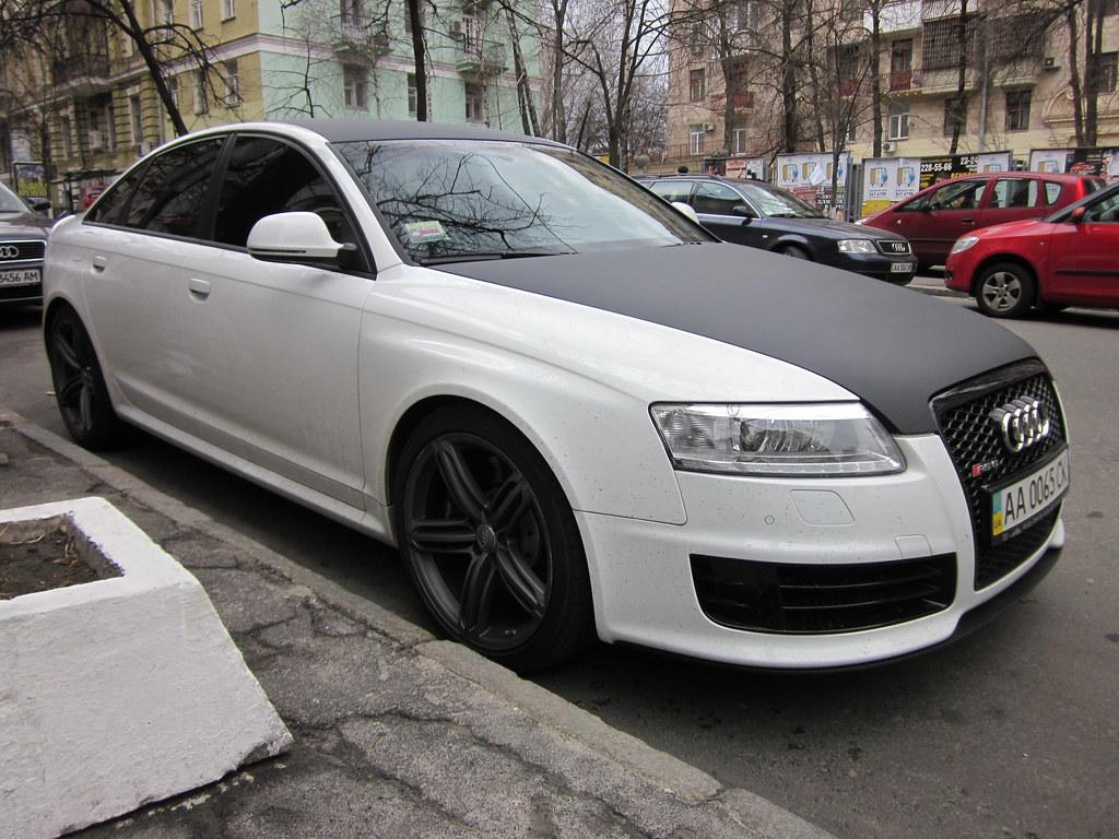 Audi Rs6 Sedan C6 Matte White With Carbon Top Audi Rs6