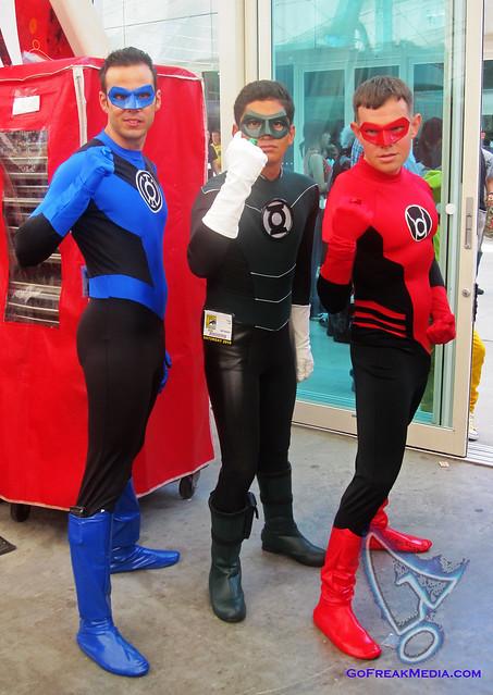 Blue Green Red lantern cosplay comic-con 2010wm | Flickr ...