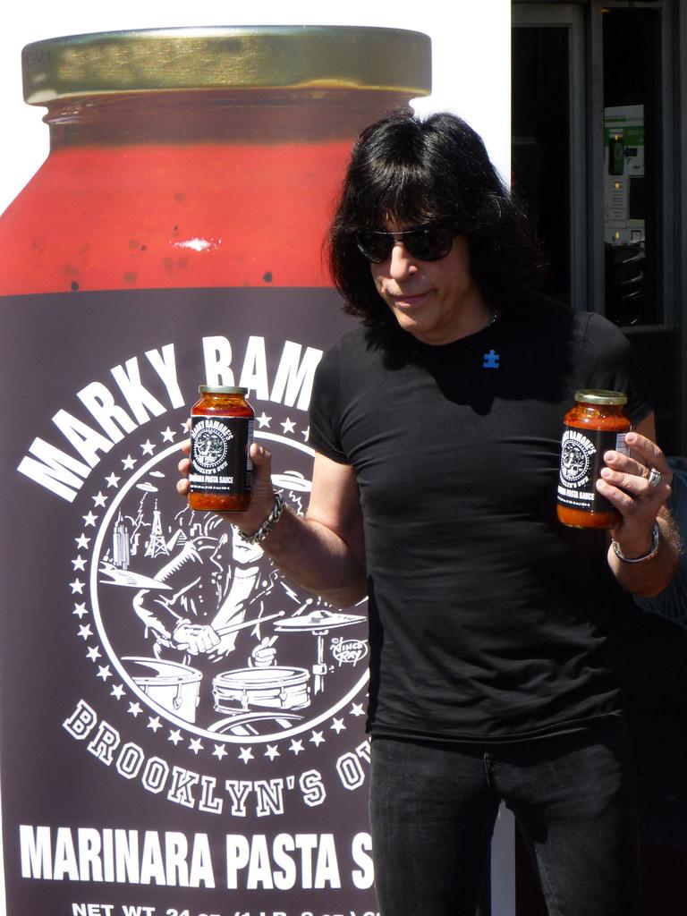 Gimme gimme marinara marky ramone promoting his brooklyn for Marky ramone marinara sauce