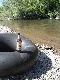 Twilight Ale on an inner tube | by DeschutesBrewery
