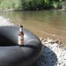 Twilight Ale on an inner tube