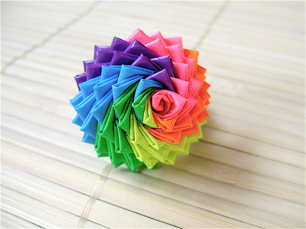 neon rainbow duct tape rose ring this is our most popular flickr. Black Bedroom Furniture Sets. Home Design Ideas
