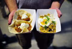 Choriqueso Tacos and Chilaquiles