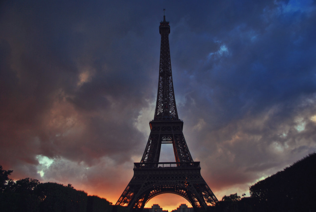 Eiffel Tower Sunset | The Eiffel Tower (French: La Tour ...