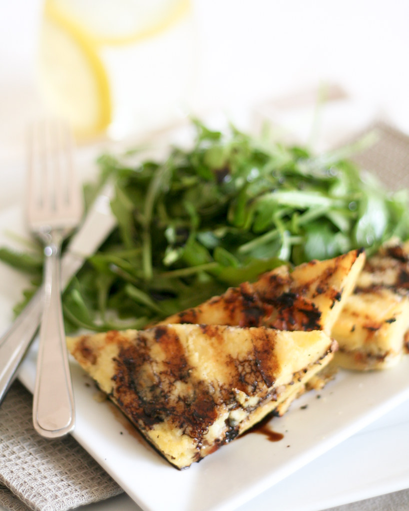 Blue Cheese and Walnut Grilled Polenta-5 | Grilled polenta s ...