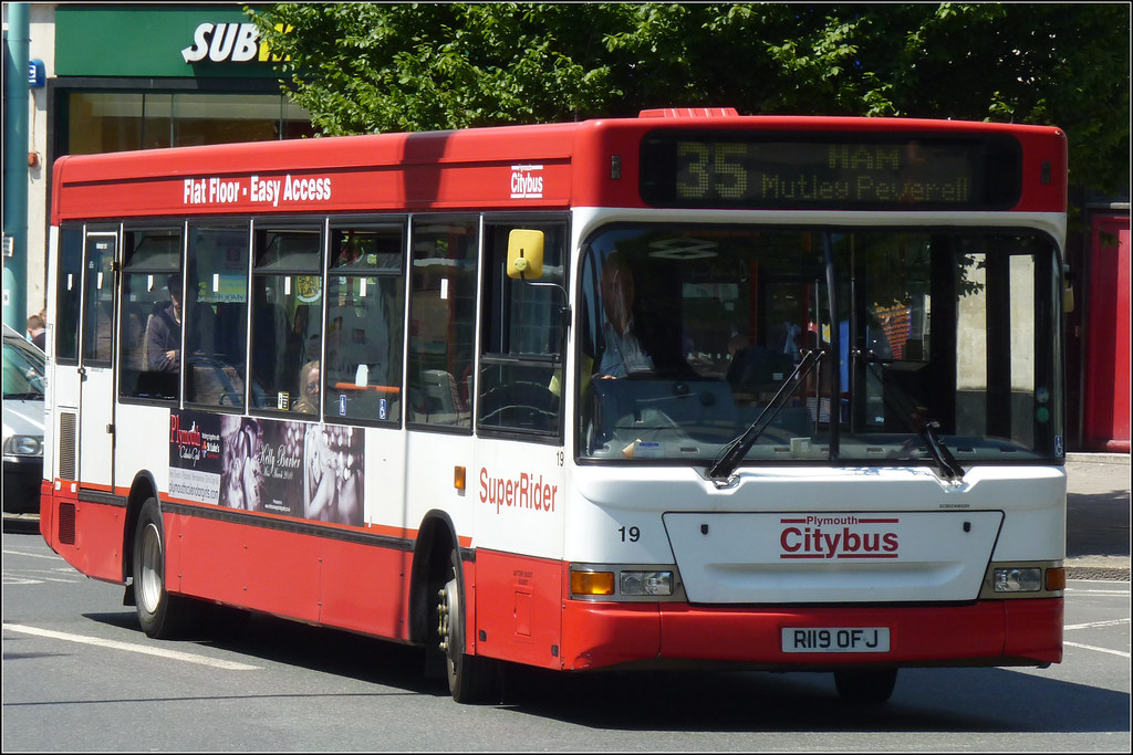 Plymouth Citybus 019 R119OFJ 2 July 2011