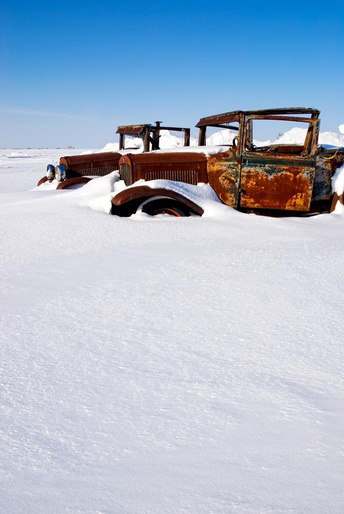 Frozen Cars On Lake Shore Drive