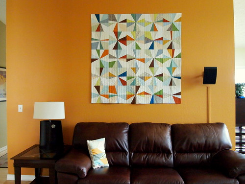 the big orange wall quilt | by Spotted Stone Studio {Krista}