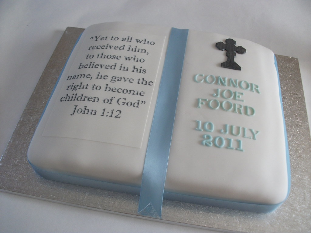 Christening Cake This Cake Was Made To Celebrate A Boy S