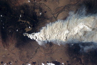View of Las Conchas Fire from International Space Station | by Los Alamos National Laboratory