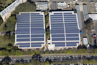 Solar panels on the roof of the Multi Story Carparks | by The University of Queensland