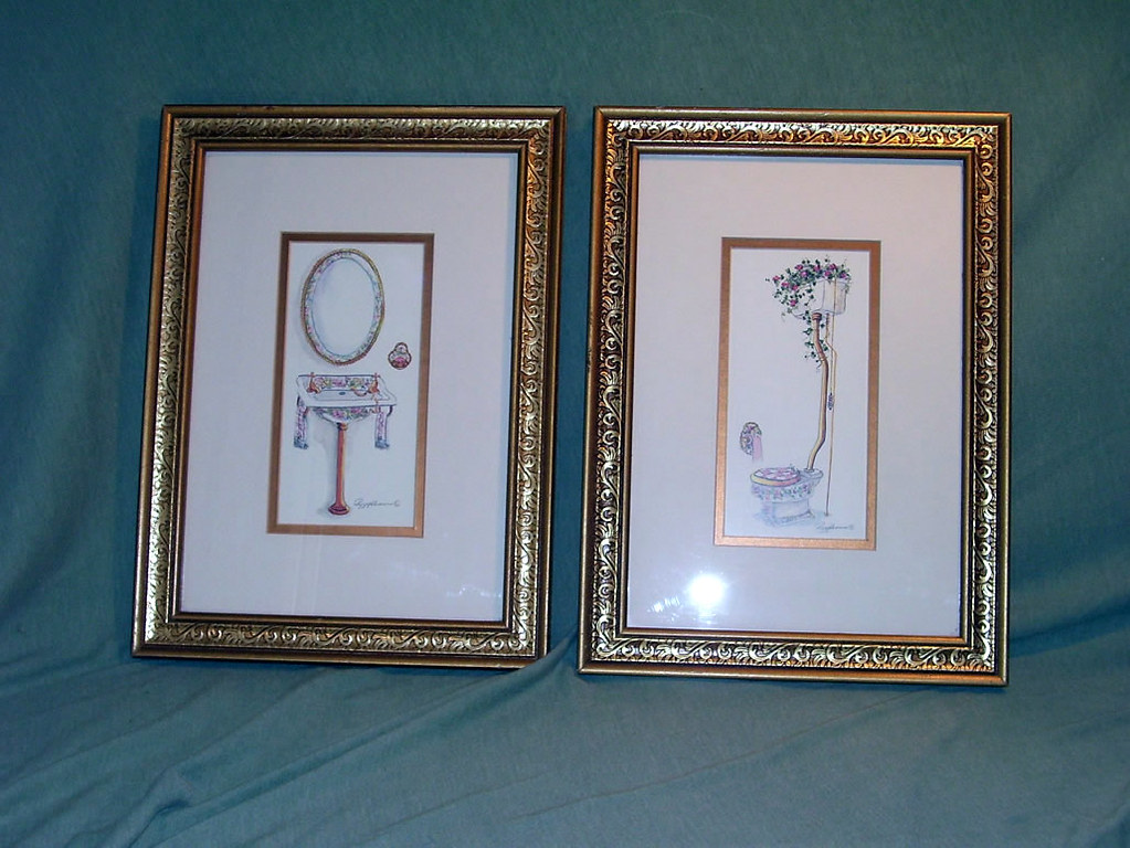 peggy abrams framed bathroom wall art a pair of