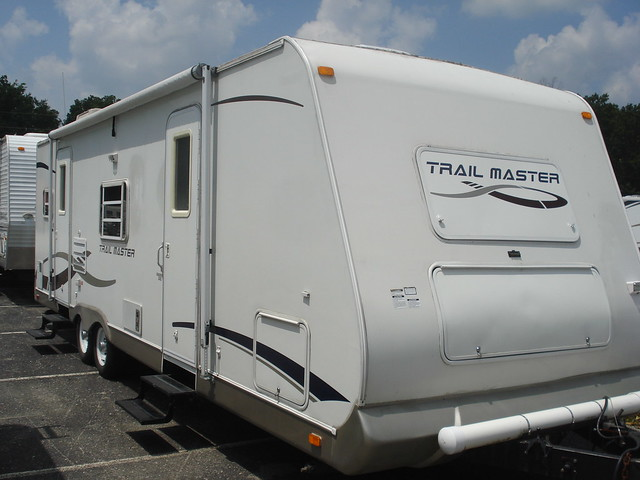 used gulfstream trail master pull behind camper exterior 2 flickr photo sharing. Black Bedroom Furniture Sets. Home Design Ideas