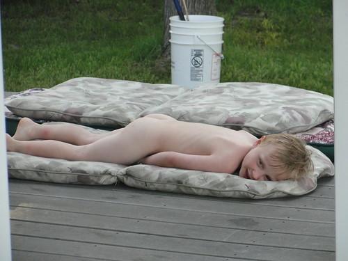 Carson Nude Sunbathing