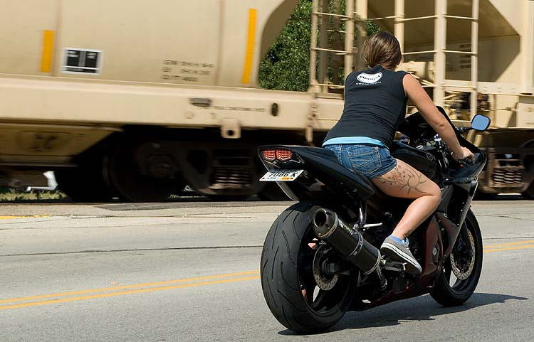 Tattooed biker chick floating stump flickr for Biker chick tattoos