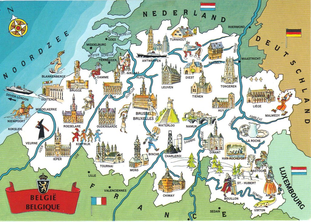 belgium map postcard 2 by paflip25