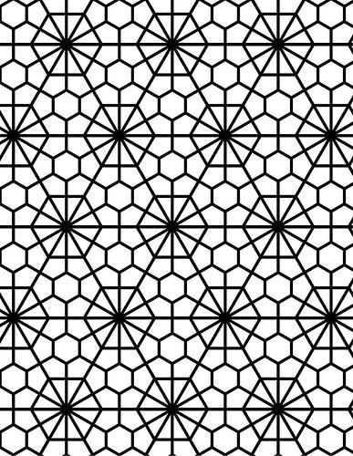 Geo Flower Stencils : Jai deco geometric pattern sacred