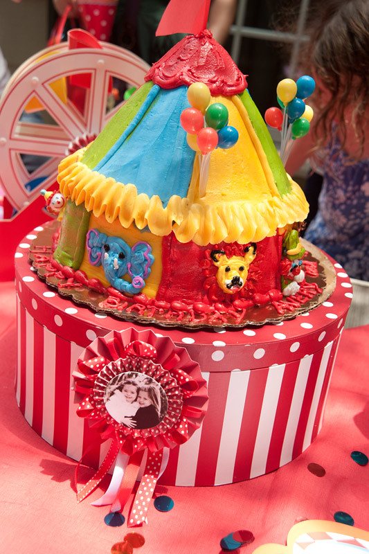 circus carnival birthday party cake Amys Party Ideas Flickr