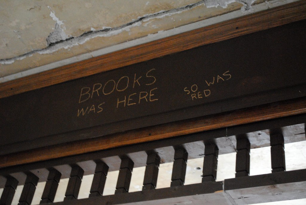 Image result for brooks was here so was red