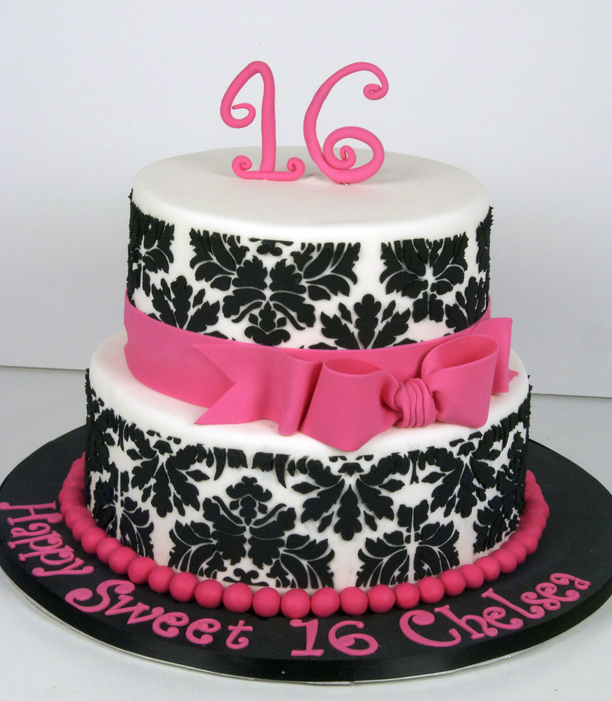 Damask Birthday Cakes