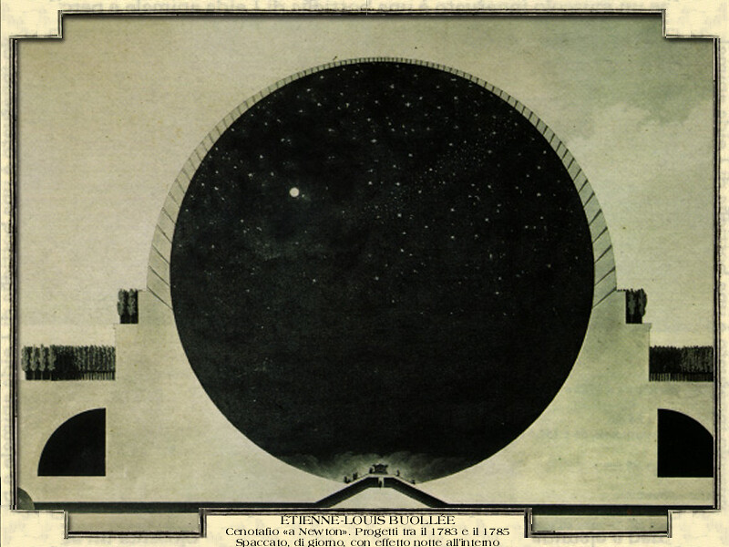 Etienne Louis Buoll 233 E Cenotafio Quot A Newton Quot Progetti Tra