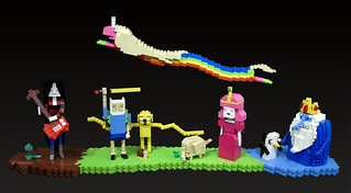 """Adventure Time"" diorama for BrickCon 2011 