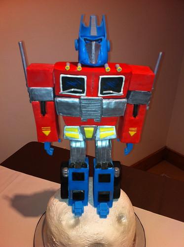 Optimus Prime Cake Decoration