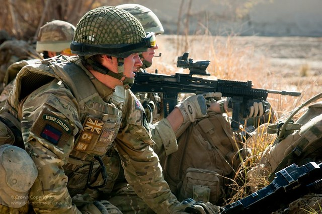irish guards soldier on patrol in afghanistan flickr