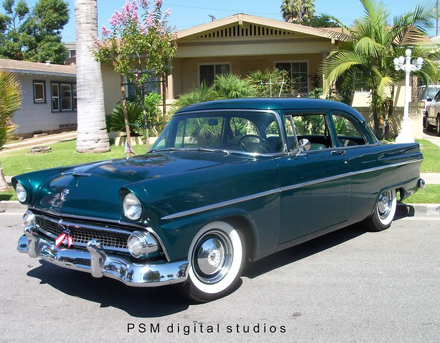 1955 ford customline 2 door sedan just a very nice clean